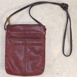 Nine West Brown Leather Crossbody Bag